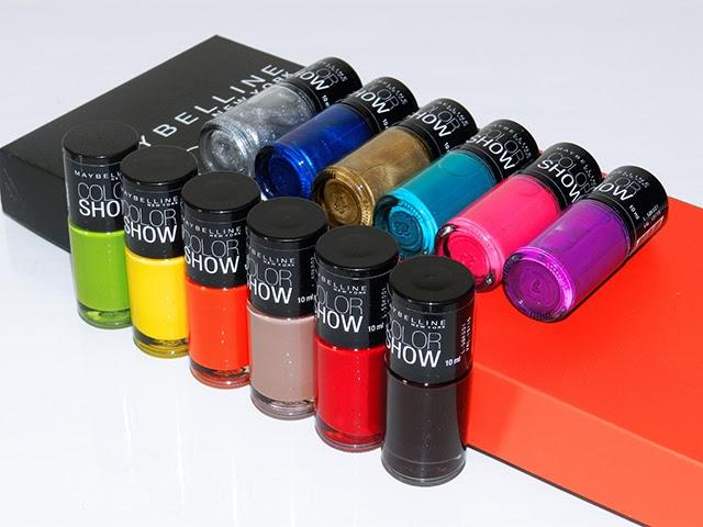 Novas cores de esmaltes 2014 Color Show Maybelline