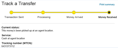 Selling Western Union money transfers: WU money transfer sell