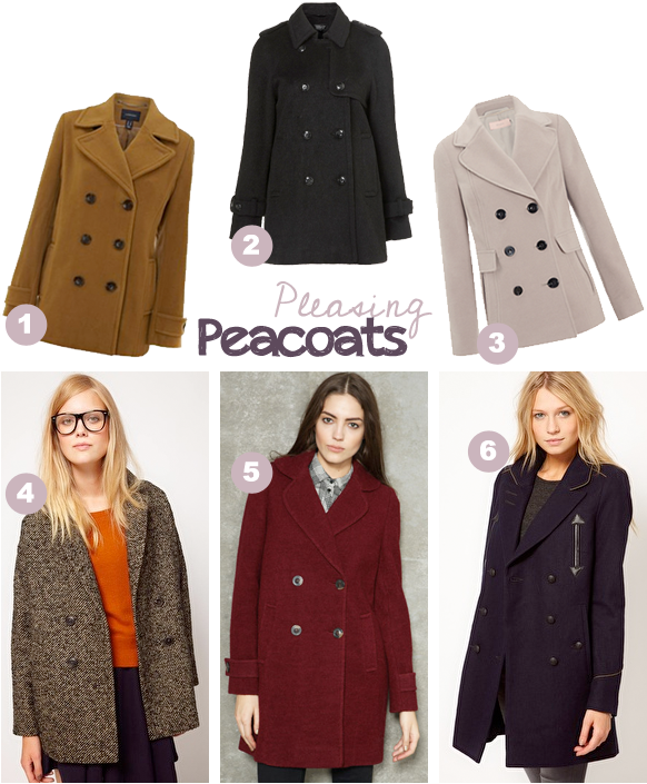 Peatcoat trend online high-street shopping