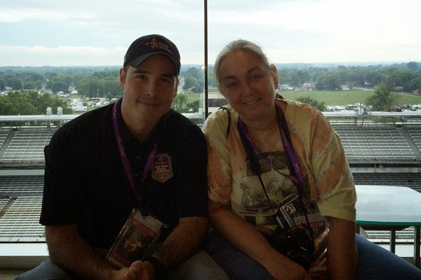 NASCAR Race Mom was honored to shadow Green Beret Hero John Wayne Walding at the race bearing his name.  #crownheroes #jww400 #reignon #nascar