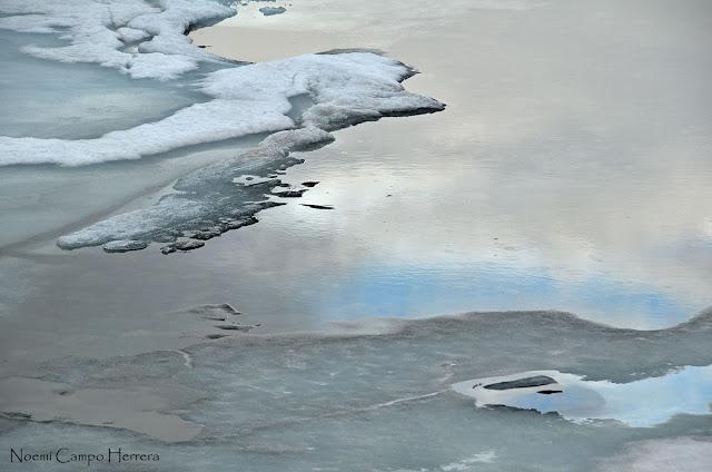 Superficie lago helado