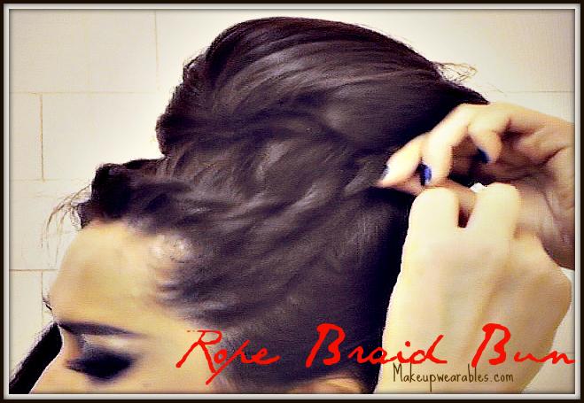 Korean Bun Hair Tutorial Video Upside Down French Rope