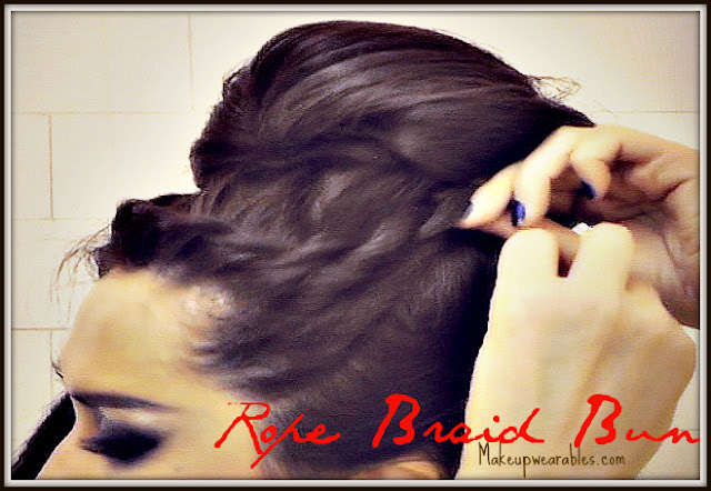 French rope braid hair tutorial video 2013 - quick & easy hairstyles | how to upside down braided bun ponytail updo- big, full, voluminous sock bun for medium long hair