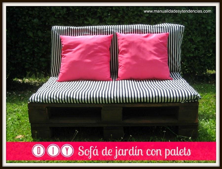 Sofa de jardín hecho con palets / Pallet sofa for the garden