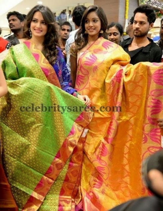 Kriti Vithika Showcasing Sarees