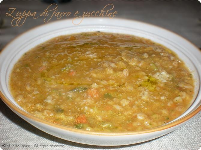 Zuppa di farro e zucchine