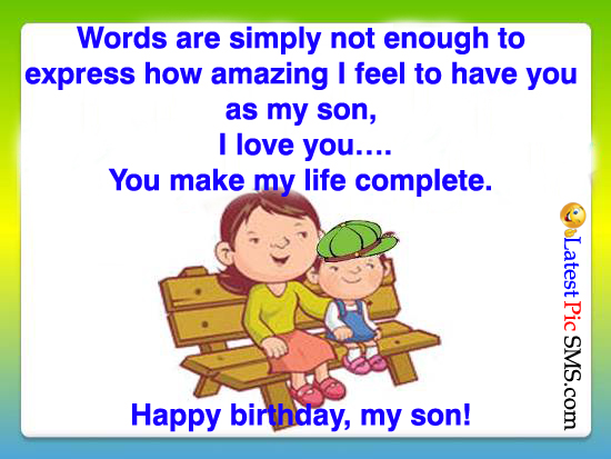 Birthday Wishes Greetings for son