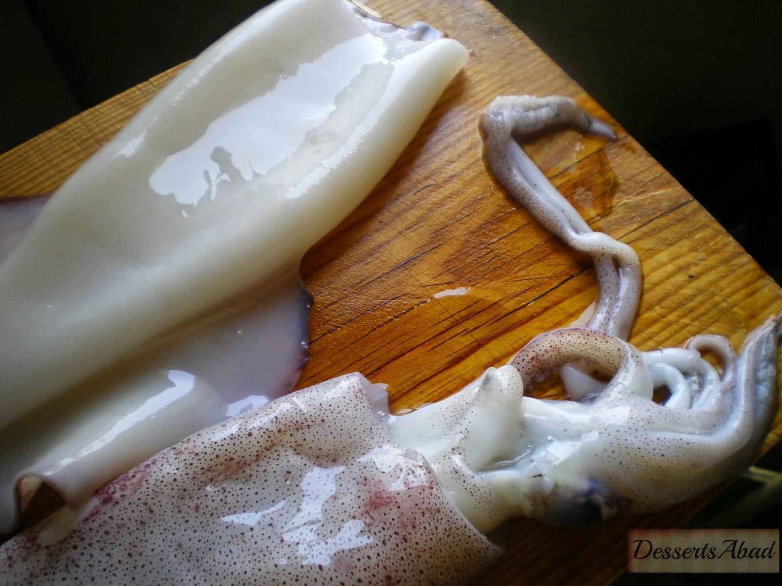 Calamares frescos