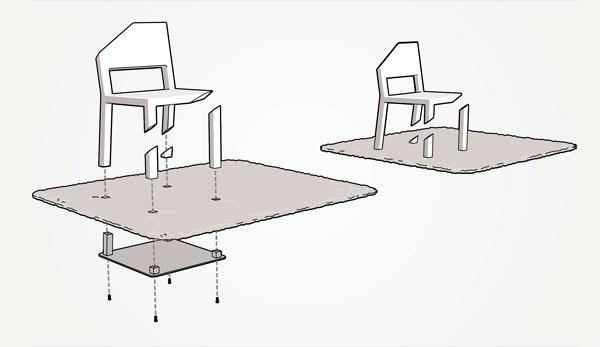 cut 03 تصميم جديد لكرسي رائع ، تخيل أن تجلس على كرسي بثلاثة أرجل مكسورة !