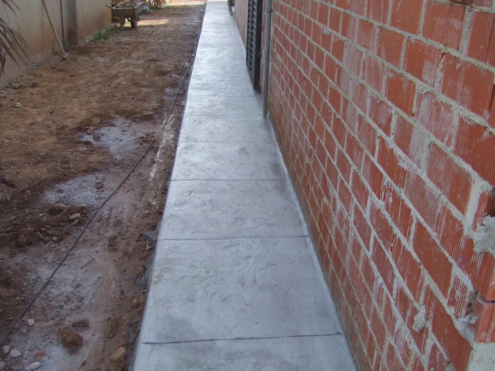 Hormig n impreso en la eliana pavimentos continuos de - Hormigon decorativo para suelos ...