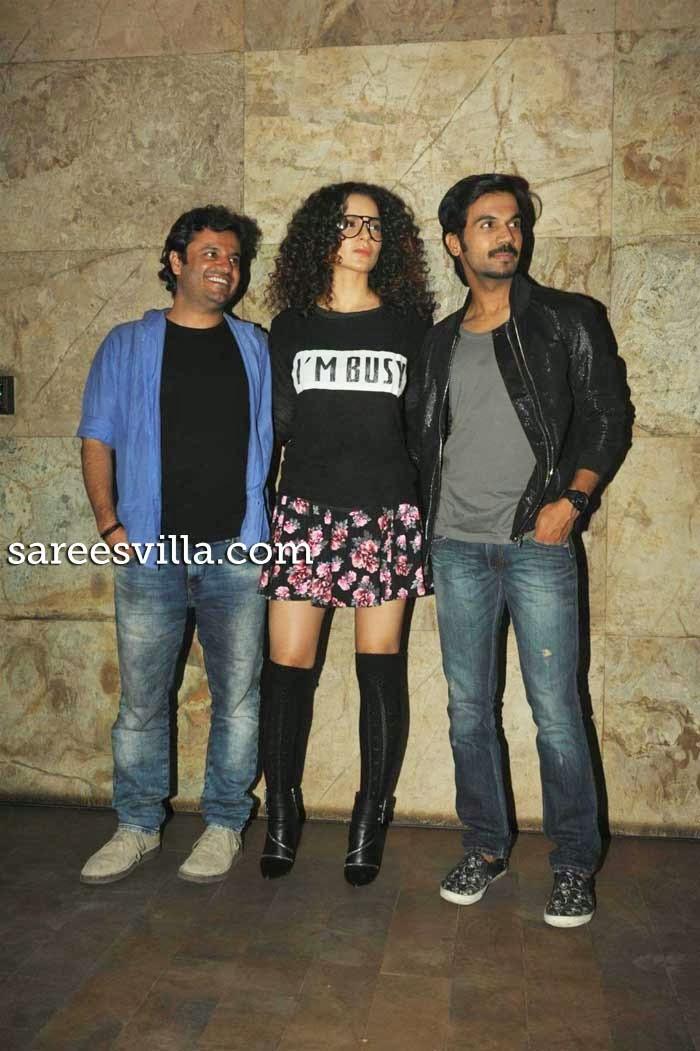 Kangana Ranaut, Vikas Bahl and Rajkumar Rao