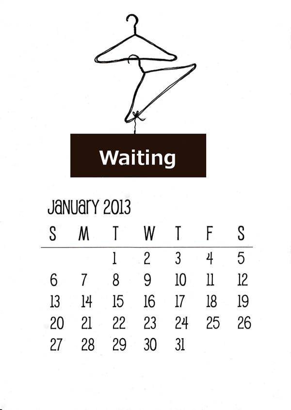 Printable calendar. Almanacka att skriva ut gratis. Handmålad almanacka med galgar som motiv.
