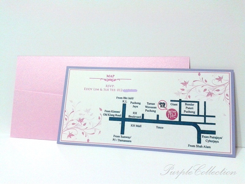 These wedding card design is customised for Sue Yee, with the wedding ...