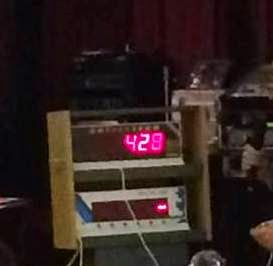 The Raffletech 3010 in use at the Cullercoats Crescent Club on New Year's Day 2015. I wonder if 428 was a winning number...
