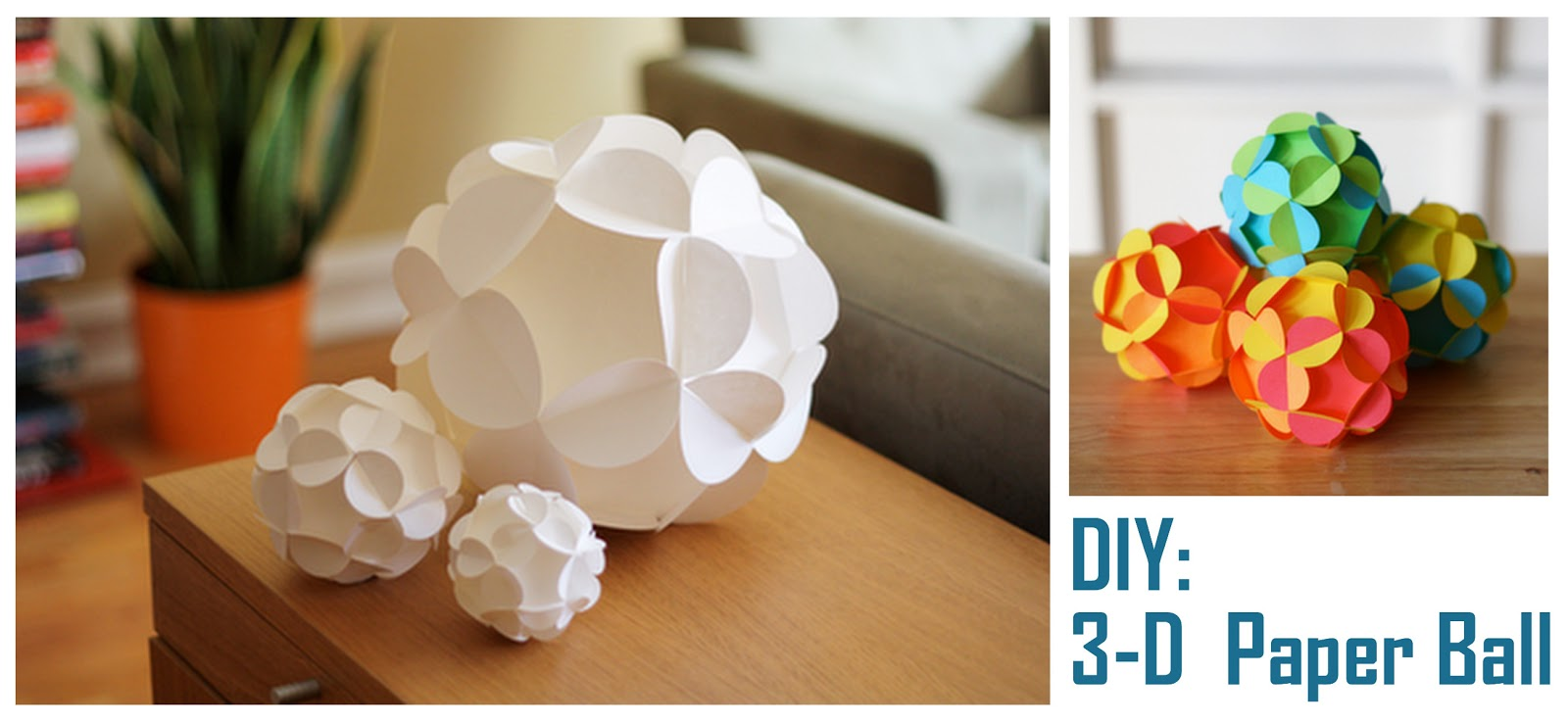 How To DIY 3 D Paper Ball