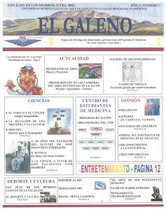 EL GALENO. PERIODICO ESTUDIANTIL.MEDICINA.UNERG.SJM.2002