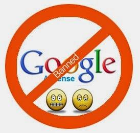 Banned Google AdSense