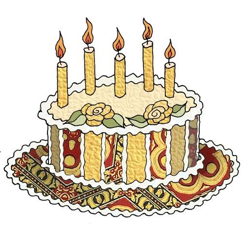 Yellow Birthday Cake Clip Art : ArtbyJean - Paper Crafts: BIRTHDAY CAKES - Set A20 - Red ...