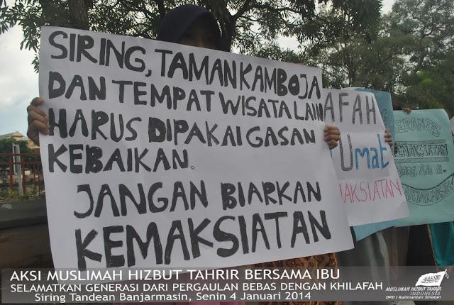 MHTI Kalsel Turun ke Jalan, Tuntut Pemerintah Daerah Kembalikan Ruang Terbuka untuk Kegiatan Positif bukan Maksiat