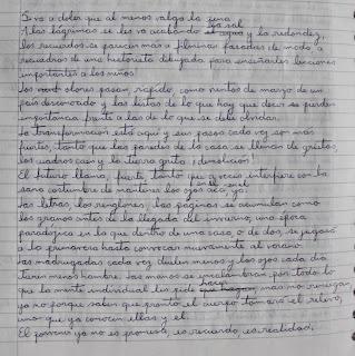 versión manuscrita del poema si va a doler que al menos valga la pena
