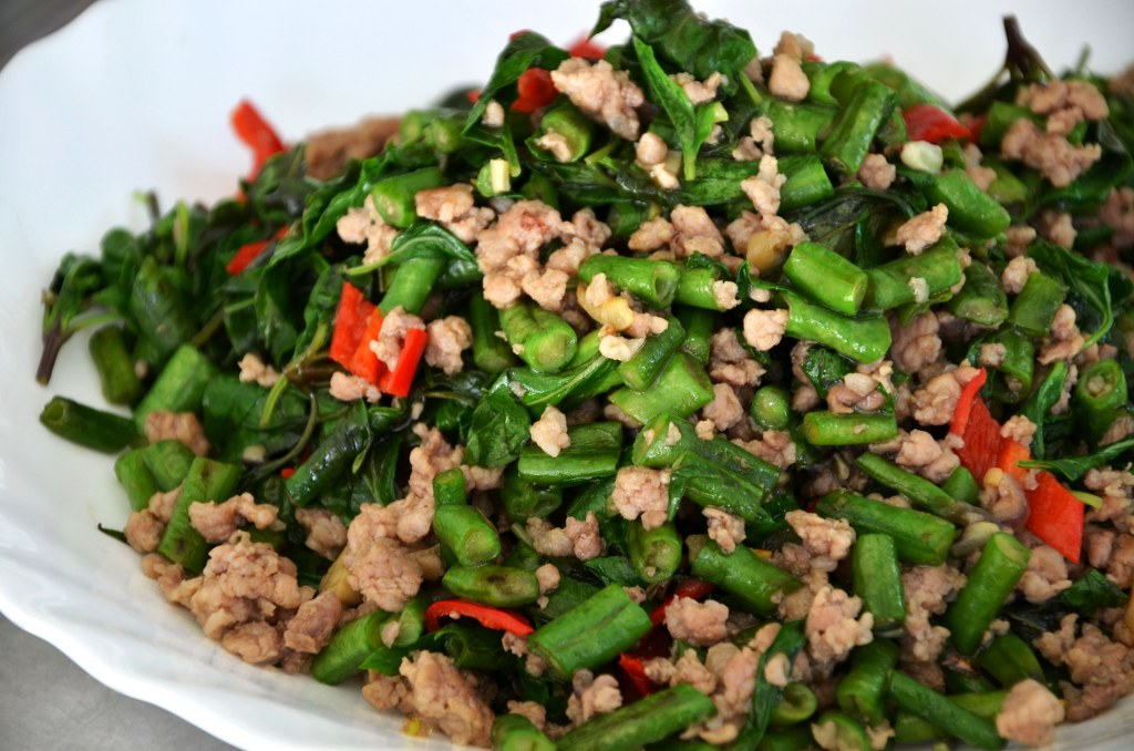 Daily Obsession: Vietnamese Long Beans With Thai Basil & Pork Mince