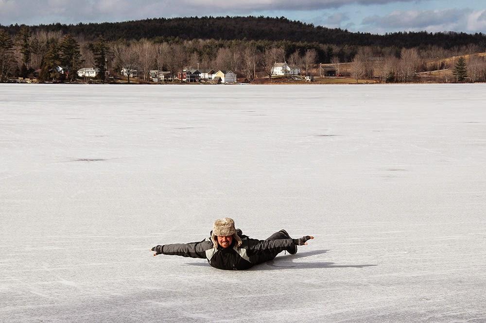 Frozen Lake St Catherine, Vermont