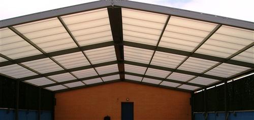 Techo fijo multiuso para colegio cerramientos y - Cubiertas para techos ...