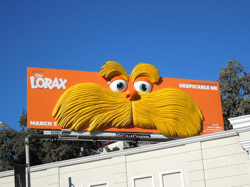 The Lorax face installation billboard