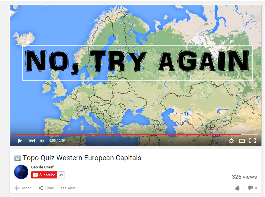 A Geography Quiz Created With YouTube Annotations