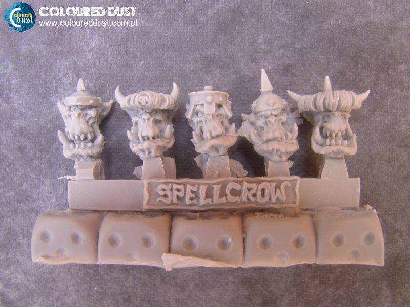Armoured Orcs Heads (SPELLCROW)
