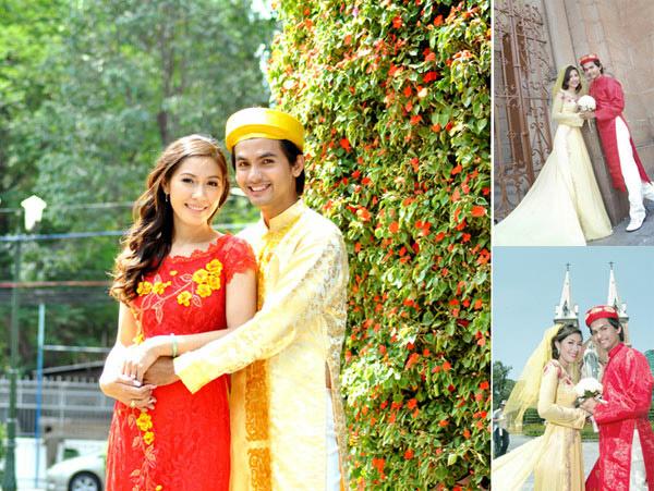 áo dài truyền thống trong ngày cưới hoặc lễ đón dâu