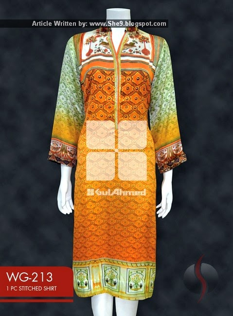 Gul Ahmed Digital Printed Ready To Wear Dresses