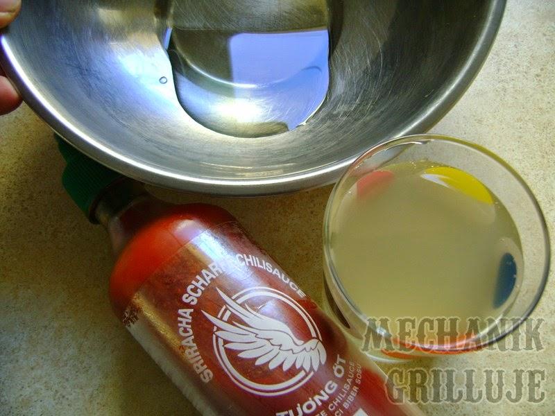 olej oliwa sok z ananasa przecier z chilli mechanik grilluje