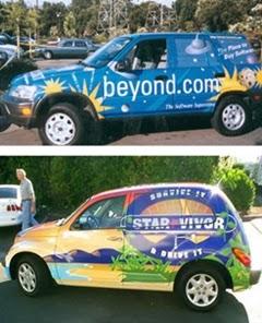 iklan pada mobil