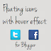 Floating Social icons with Hover effect