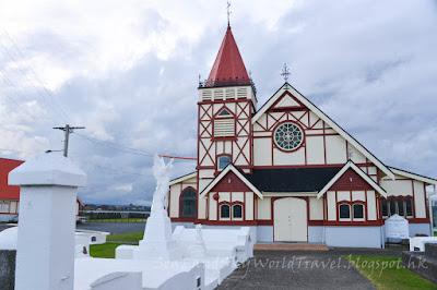 Rotorua, 羅托魯亞, living maori village, saint faiths anglican church
