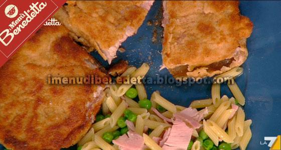 Cordon Bleu con Pasta e Piselli di Benedetta Parodi