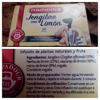 infusión jengibre limón