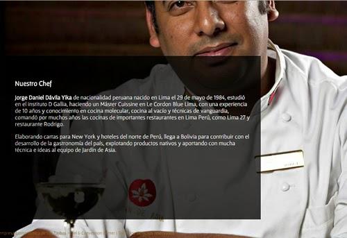 Chef peruano Jorge Dávila