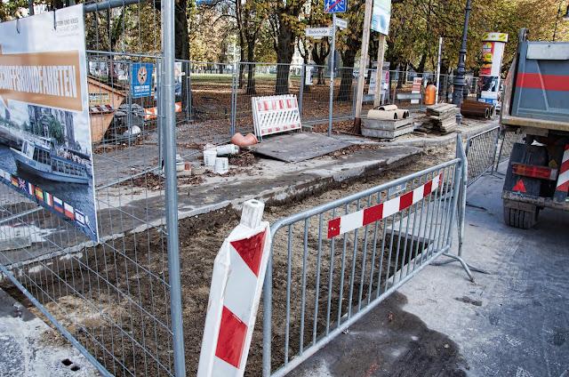 Baustelle Mischwasserkanal, Länge ca. 285 m, Bodestraße / Am Lustgarten, 10178 Berlin, 21.10.2013