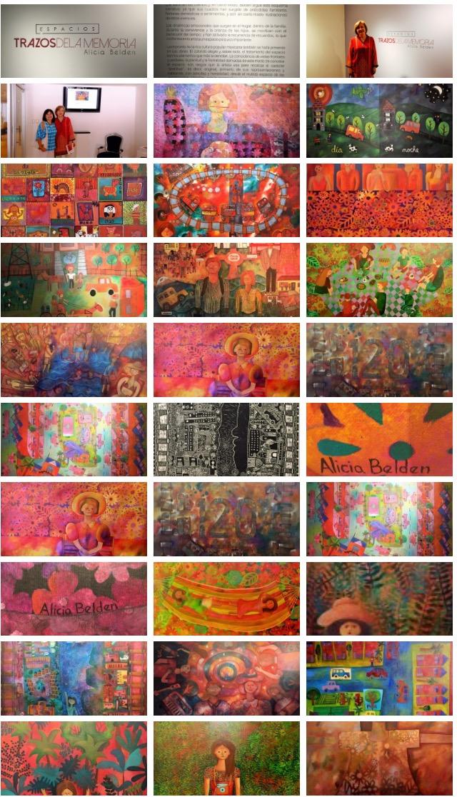 Obras Trazos de la Memoria, Alicia Belden