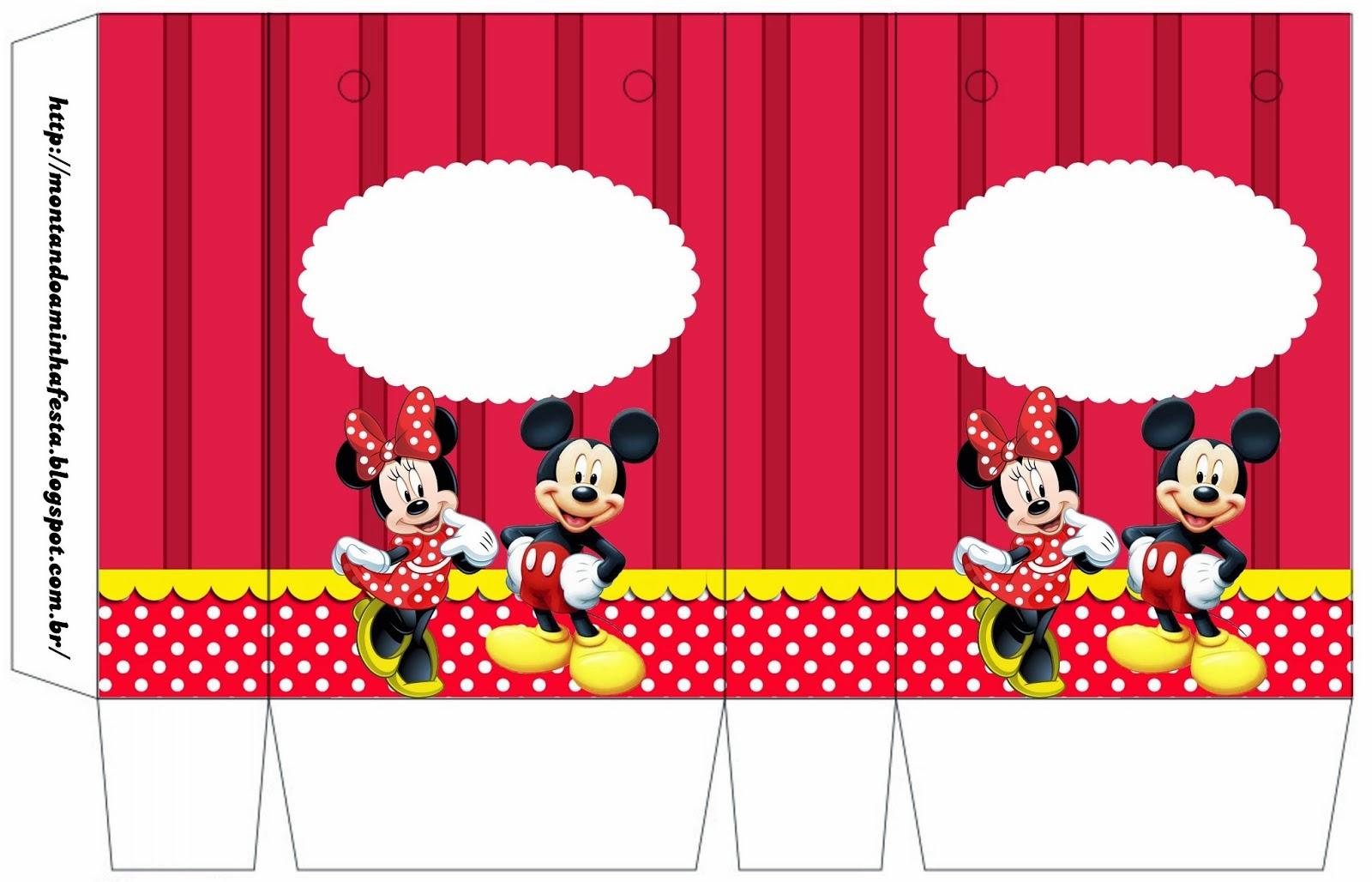 Bolsa de papel Gratis para fiestas de Minnie y Mickey.