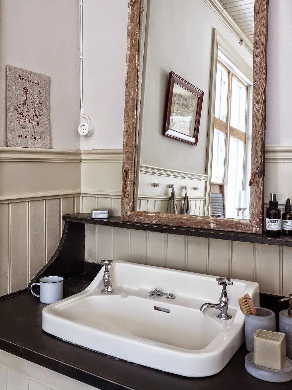 Home garden une salle de bains r tro - Deco salle de bain vintage ...