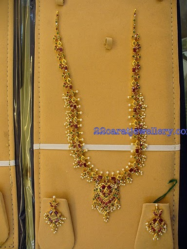 Gold long chains with pearls uncut diamonds and rubys - How to get diamonds on design home ...