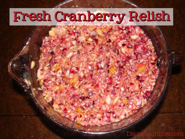 Fresh Cranberry Relish for Thanksgiving