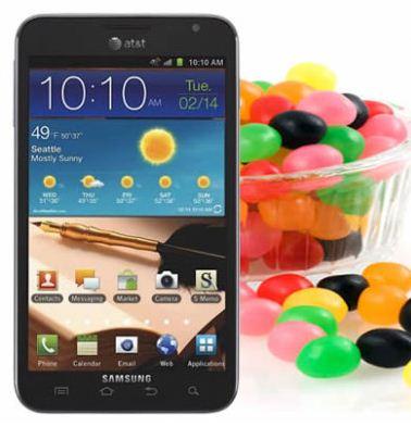 AT&T Galaxy Note Jellybean