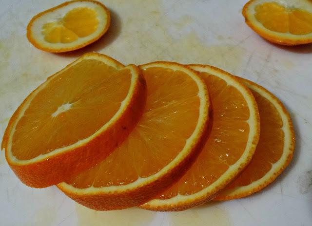 Rodajitas de naranja