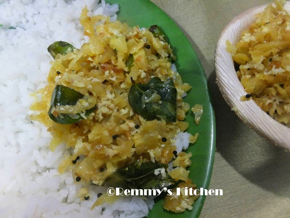 Cabbage thoran/Cabbage stir fry