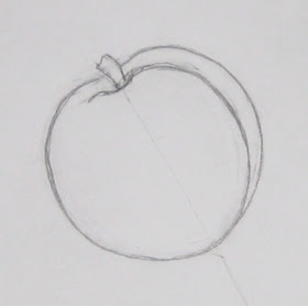 how to draw peach fruit