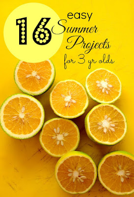 16 Easy Summer Projects for 3 yr olds shared by The Practical Mom Blog at The Chicken Chick's Clever Chicks Blog Hop